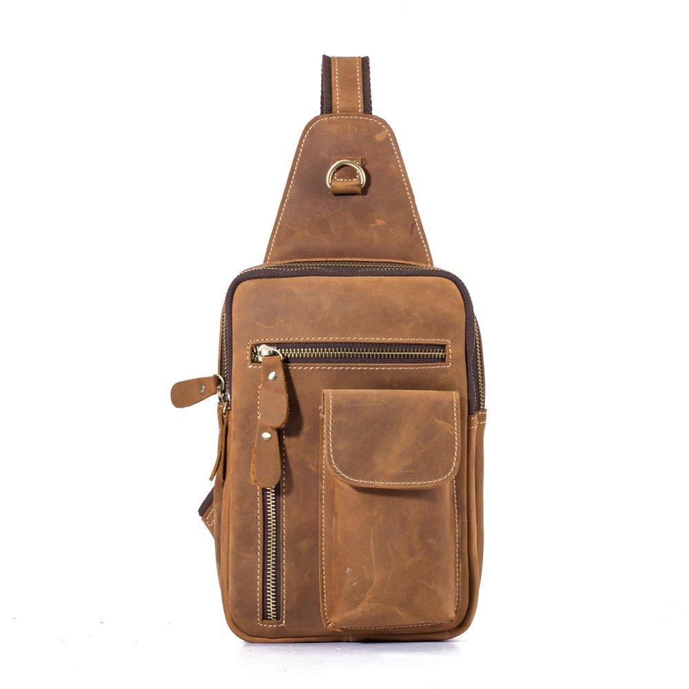 Liuxiaoqing Brusttasche Hand Männer Einzelner Schulterbeutel Crossbody Bag Workout Freizeit Shopping Tragetasche