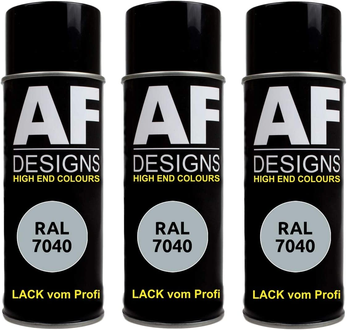 Alex Flittner Designs 3x Ral Lackspray Autolack Buntlack Spraydose Ral7040 Fenstergrau Glänzend Auto