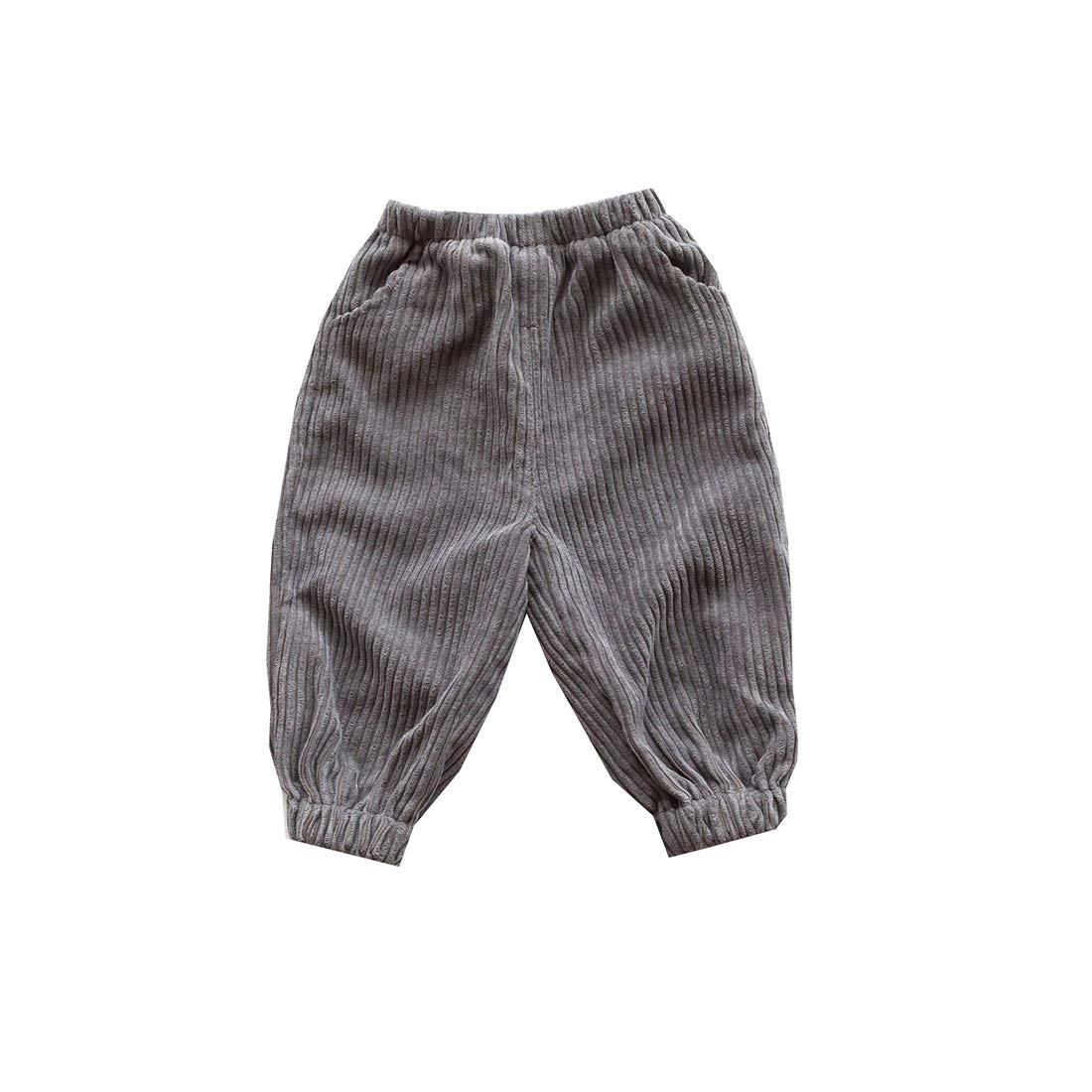 AIKSSOO Toddler Baby Kids Little Boy Girl Retro Casual Corduroy Pants Trousers
