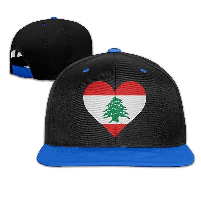 23033ab99ec Amazon.com  Lebanon Heart Unisex Snapback Caps