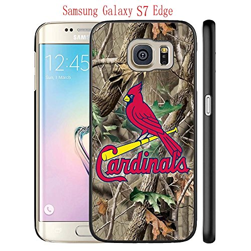 Samsung Galaxy S7 Edge Case, STL Cardinals Logo 01 Drop Protection Never Fade Anti Slip Scratchproof Black Hard Plastic Case (Stl Cardinal Tickets compare prices)