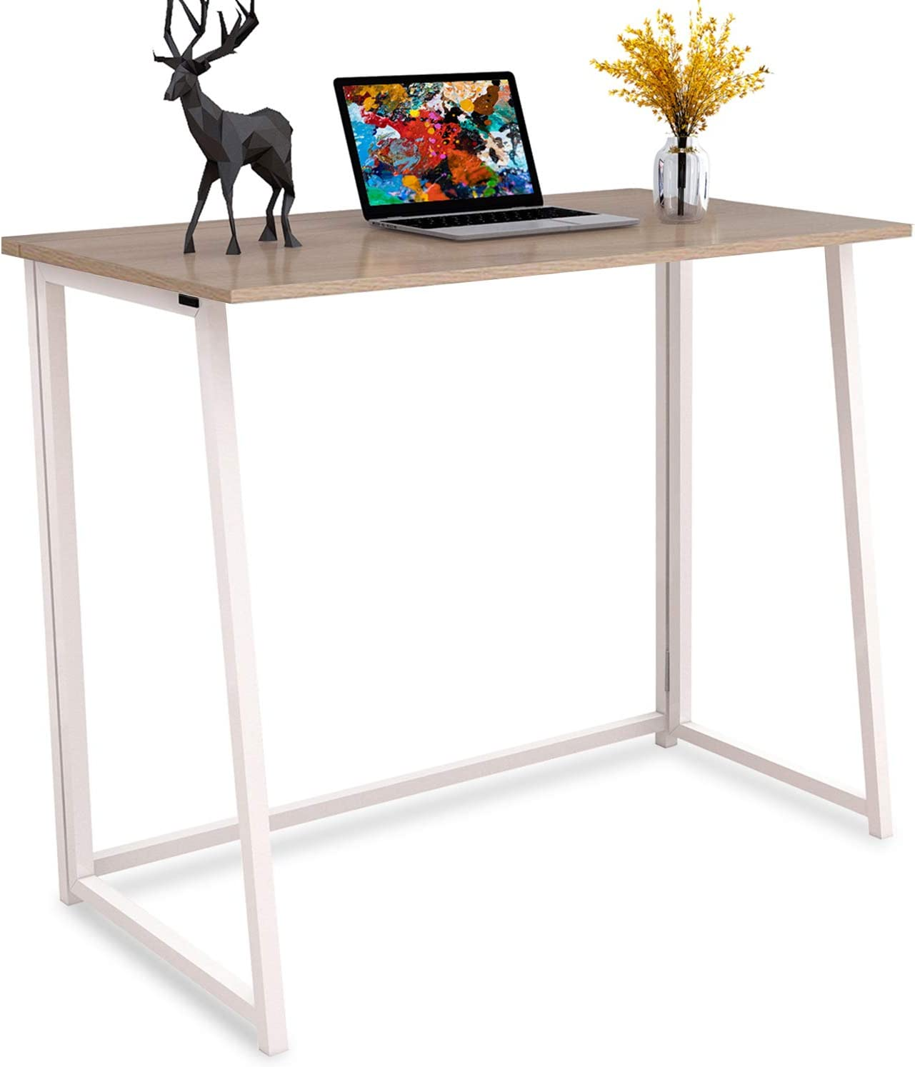 4NM Folding Desk, No-Assembly Small Computer Desk