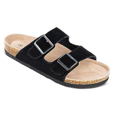 c2e68977f2f4 Amazon.com  TF STAR Men s Arizona Cow Suede Leather Slide Sandals