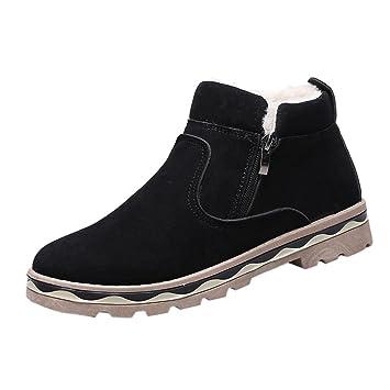 032e224c8f3 XINANTIME - Zapatos de hombre Moda Zapatillas de deporte de hombres de moda  Hombre Invierno PU cuero caliente nieve Cool Sneakers Inglaterra Botines  con ...