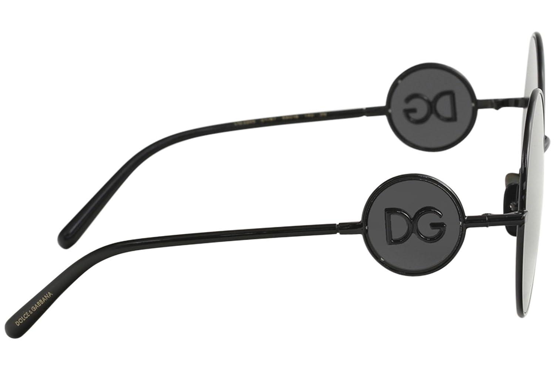 724f9f47dec1 Amazon.com: Dolce & Gabbana Women's Sicilian Sweet Round Sunglasses,  Black/Grey, One Size: Clothing