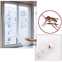 Heyuni.1pc DIY Anti-Mosquito Net Self-Adhesive Flyscreen Curtain Insect Screen Mosquito Bug Mesh Window Screen Home Supplies,130*150cm
