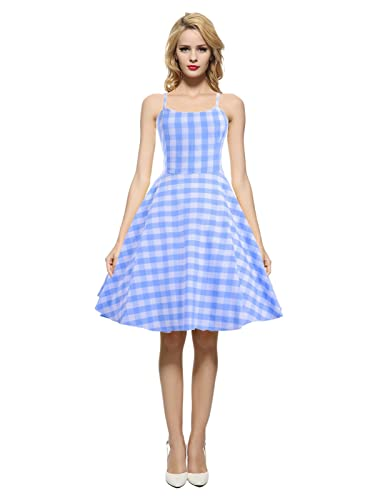 Maggie Tang Women's 1950s 60s Vintage Rockabilly Casual Party Dress