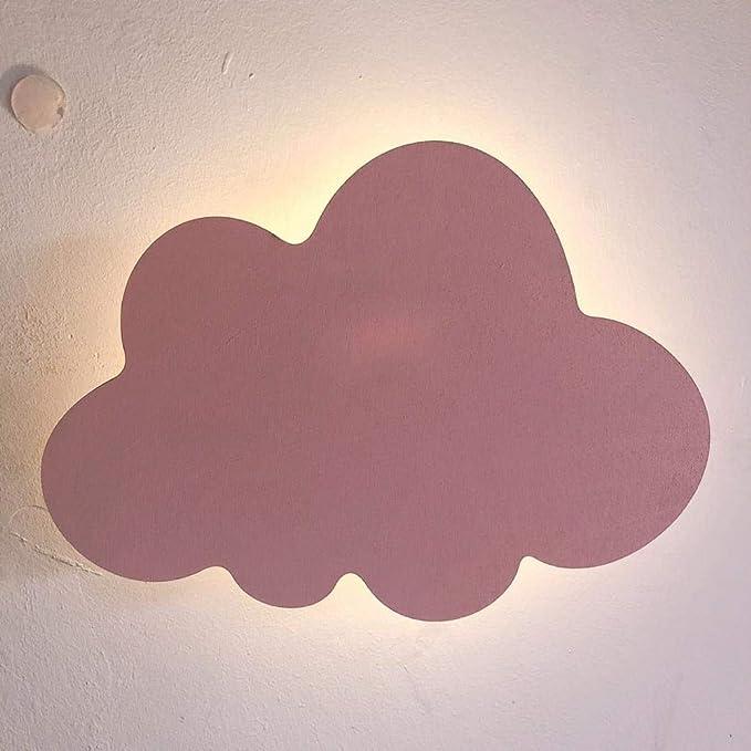 Applique Salle de Bain LED Style Cloud Applique Murale Lumi/ères Blanc Rose Led Mur Mont/é Salon Fille Enfants Chambre Lumi/ère D/écoration Conception 18x25CM blanc