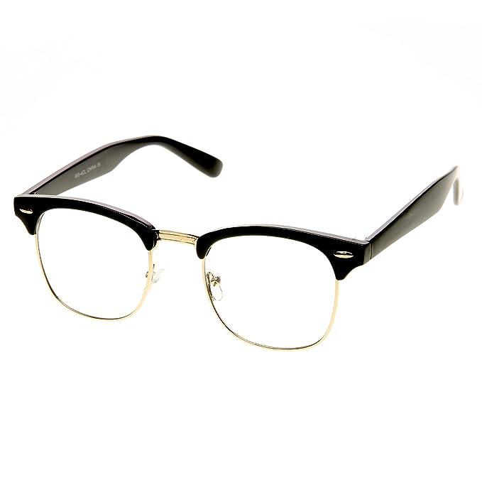 Amazon.com: ZeroUV – Gafas de lentes transparentes de estilo ...
