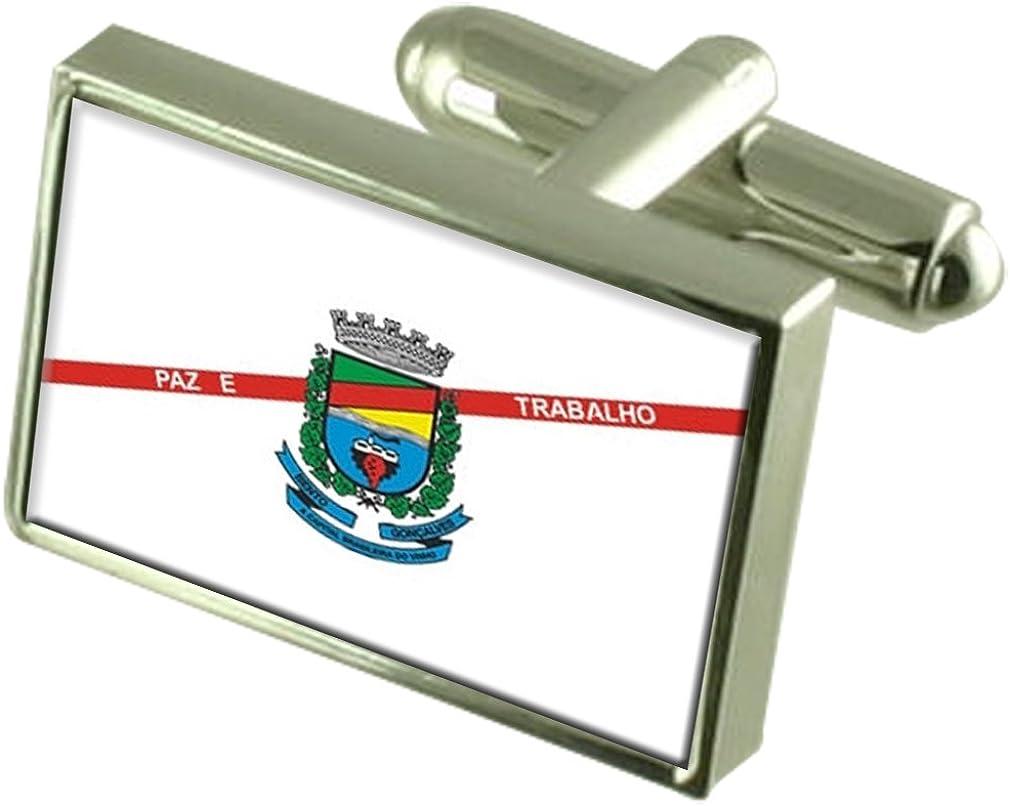 Bento Goncalves City Rio Grande do Sul State Flag Cufflinks