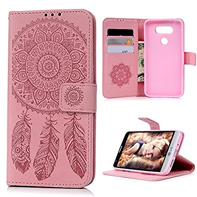 LG G5 Case, YOKIRIN Embossed Flower Dream Catcher Pattern PU Leather Card Slots Stand Wallet Case Cover with Strap Magnetic Closure Flip Folio Skin Shell for LG G5