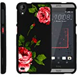 Miniturtle [ Desire 530 Case, HTC 630 Hard Case, Desire 530 Slim Cover] -[Snap Shell] 2 Piece Rubberized Hard Plastic Case - Affectionate Flowers