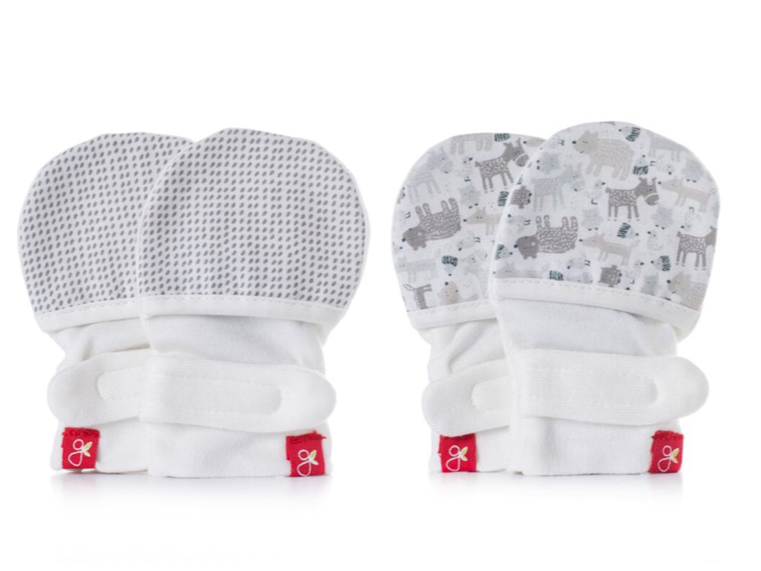 goumimitts Soft Stay On Scratch Mittens - Stop