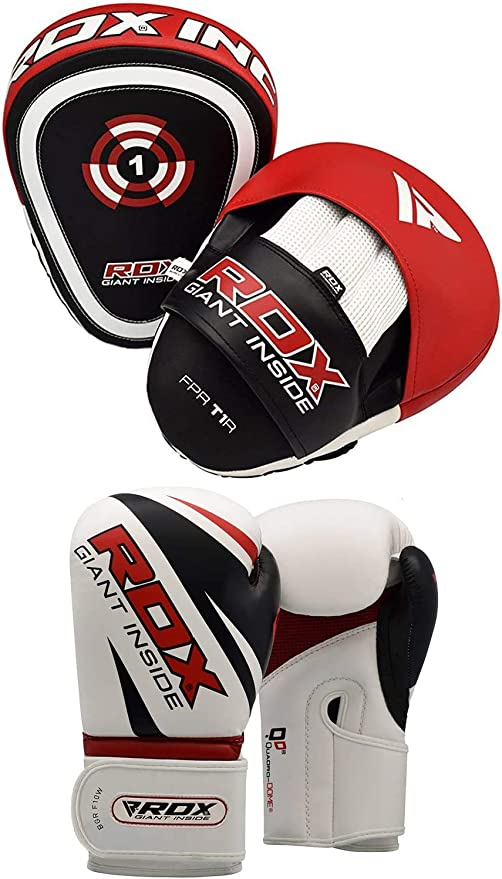 ~Target Focus Pads Hook and Jab MMA Boxing Kick Muay Thai Mitts Adult Training