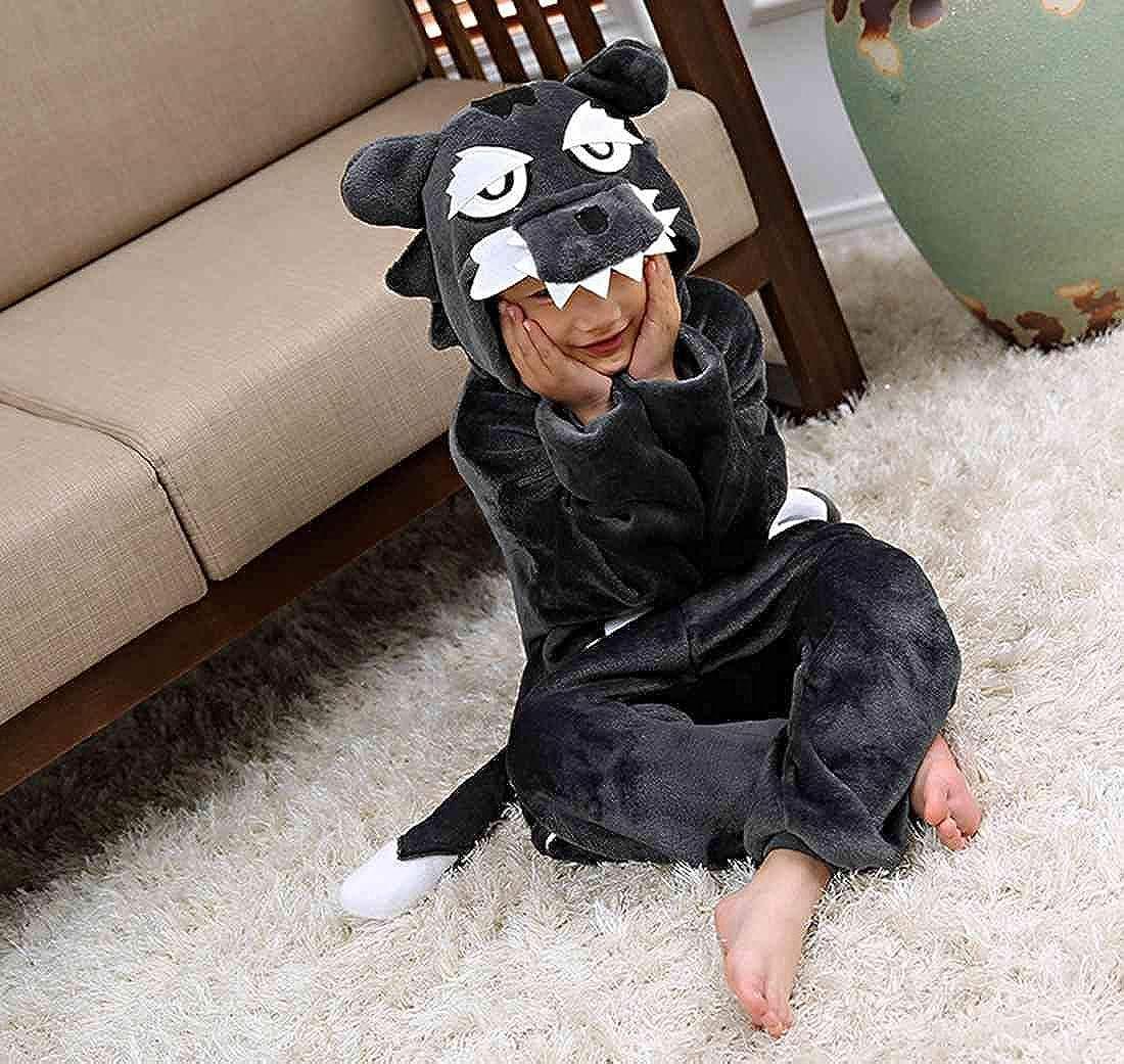 Kigurumi Unisexo Niños Animal Pijamas Carnaval Halloween Navidad Cosplay Disfraz Lobo: Amazon.es: Ropa y accesorios