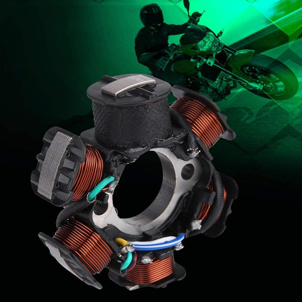 Enrilior GY6 cdi GY6 Stator for Scooter,Racing Ignition Coil CDI Spark Plug Magneto Stator Compatible with GY6 125cc 150cc Moped Scooter