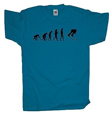 Ma2ca - Evolution - Skifahrer Ski T-Shirt-azure-s