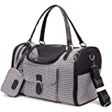 Small Animal Carrier-Airline Approved Dog/cat/Small Animal Carrier, Travel pet Bag(M-Houndstooth ≤ 4Kg)