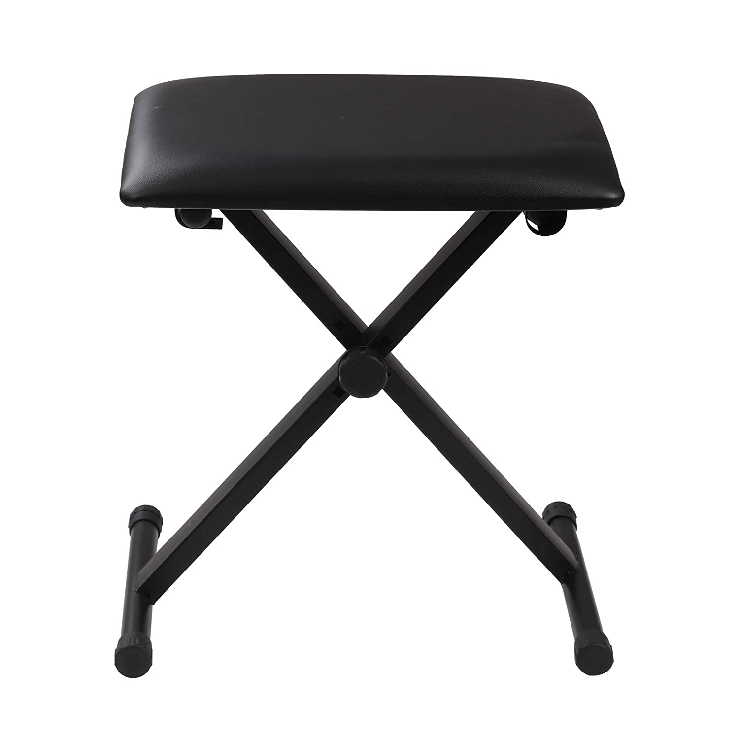 KingSaid Height Adjustable Piano Stool Keyboard Bench Seat Folding X-Frame Stool with 3-Position Height