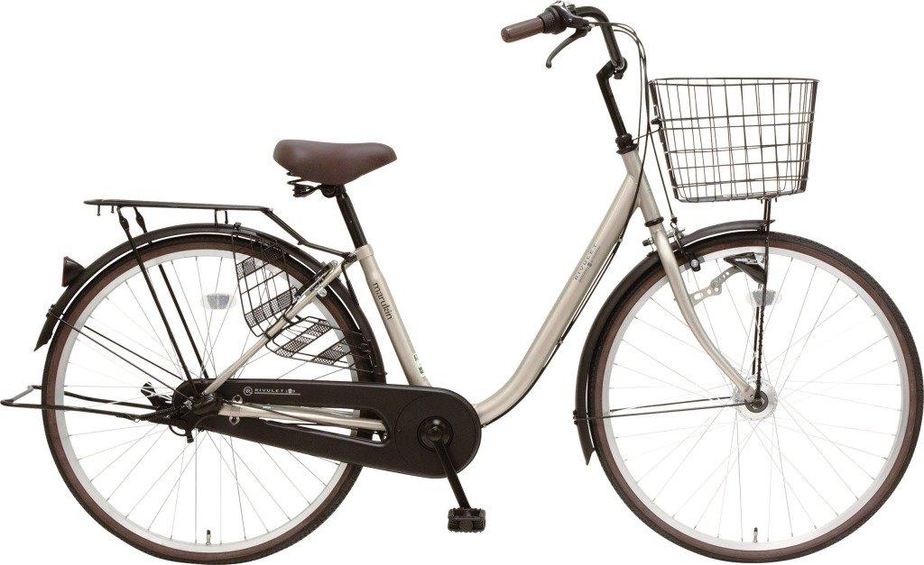 marukin(マルキン) 自転車 24型 リブレットループ またぎやすいフレーム LEDオートライト ライトゴールド MK-17-005 B01MYZMAQI