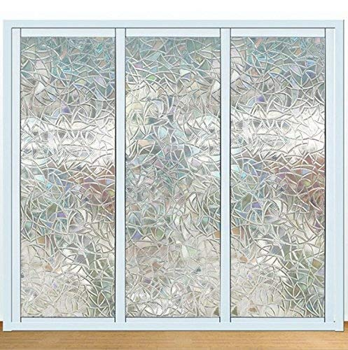 1 Roll EffortLife 3D Privacy Window Films Non-Adhesive Static Decorative for Glass Heat Control /& Anti Uv window film For Home Bedroom Bathroom Kitchen Office 35.4 x 78.7 inch 90x200cm