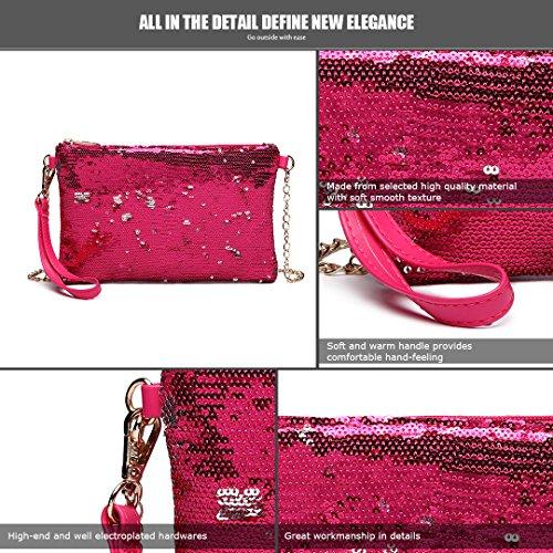 Women Handbag Strap Shining Party 1765 Plum Clutch Sequins Bag Lulu Bag Chain Evening Cross Body For Shoulder Girl Miss g8qZWfX