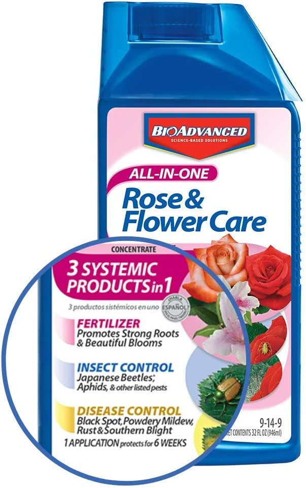 BioAdvanced 701260B 32Oz All in 1 Rose Care, 32 oz, Concentrate
