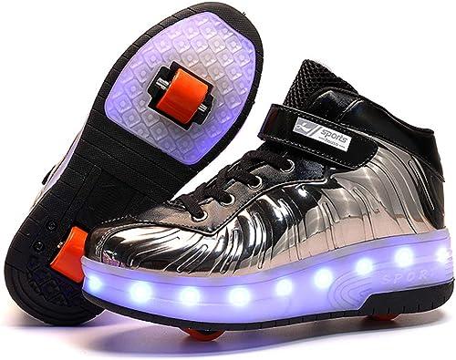 Girls Wheel Shoes LED Light Up Wheels Roller Skates Sneakers Pink Series
