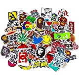f06df437da4d RERN Random Stickers 100 pcs Best for Laptop Macbook Skateboard Snowboard  Luggage Suitcase iPhone Car…