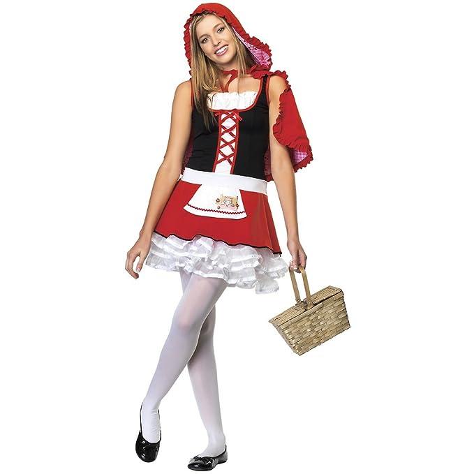 amazoncom leg avenue juniors 2 piece red hiding hood costume clothing