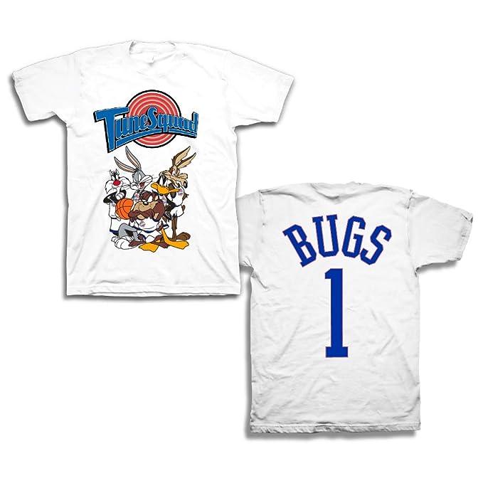 31e72e1131f375 Amazon.com  space jam Mens Classic Shirt - Tune Squad Michael Jordan   Bugs  Bunny Tee 90 s Classic T-Shirt  Clothing