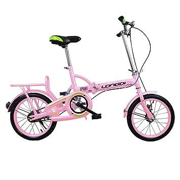 """Xiaoping Bicicletas, bicicletas plegables, bicicletas para niños y niñas, 16"""" (Color"""
