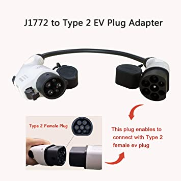 K H O N S Ev Adapter Für Ev Ladekabel Typ 1 Auf Typ 2 Adapter 32a Für Amerikanische Standardautos 0 2 M 7 2kw 0 9kg Auto