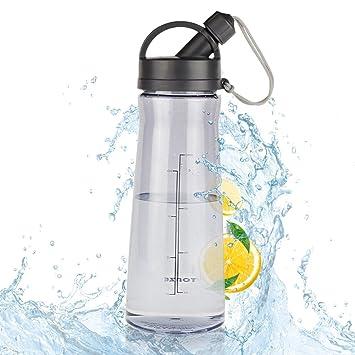 Botella Agua Sin BPA 1600ML Botella Plastico Botellas de Agua Reutilizables con Filtro para Deportes,
