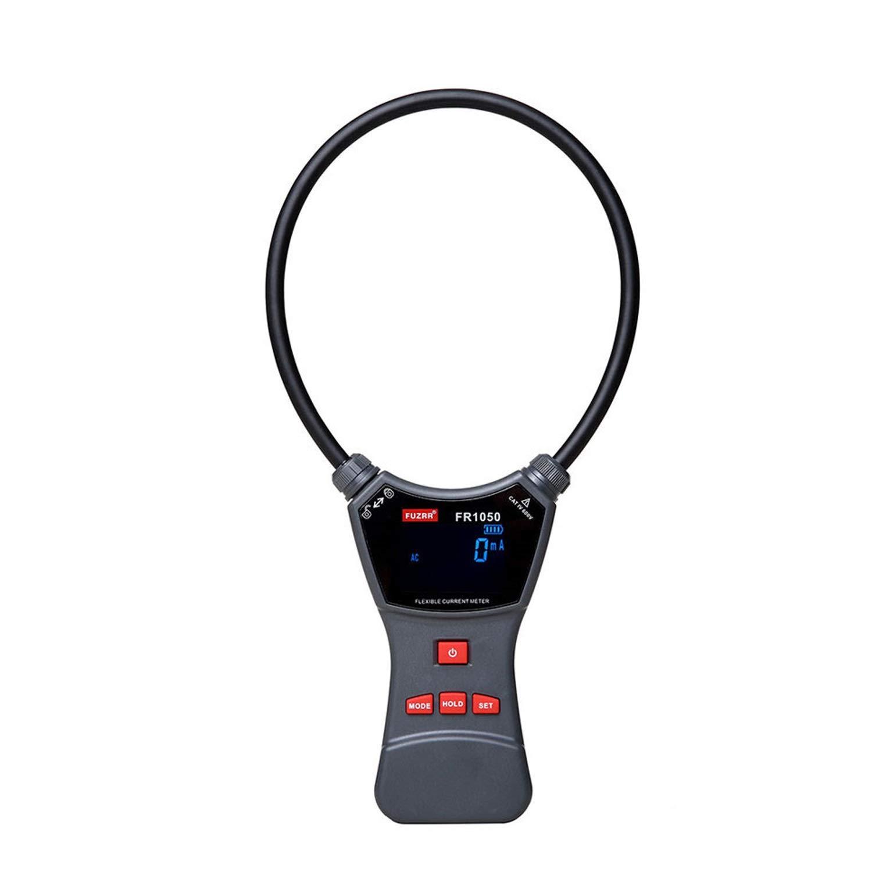 クランプリークリーク電流テスター 10000A柔軟な自動デジタルAC電流クランプメーターFR1050 デジタルアース抵抗測定