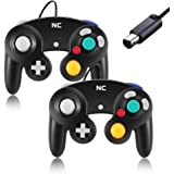 NC Gamecube Controller, Suitable for Wii Console and Nintendo Game Controller, Wired Controller Black Gamepad Joystick(Black