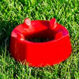 Football Placekicker Kicking Tee (Plastic) (Red) – Improve Your Placekicker's Field Goal Aim & Accuracy in Football/Rugby [Net World Sports]