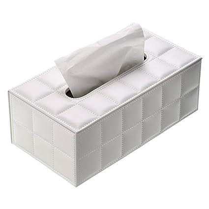 Bath Tissue Box Covers Plastic Facial Tissue Napkin Box Toilet Paper Dispenser Case Holder Home US