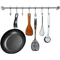 SUMNACON Barra Maciza de gabinete Cocina (Acero Inoxidable