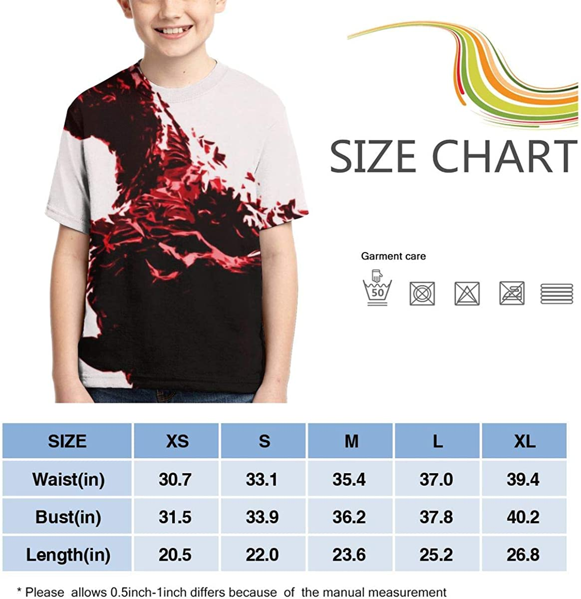 Boys All Over 3D Digital Printed Shin Godzilla Crewneck Personalized T Shirts Tees