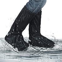 Geggur Silikon Regen/überschuhe,RegenschutzWasserdicht Schuh/überzieher Mehrweg Schnee Staub Schutz Und rutschfeste /Überziehschuh F/ür Outdoor Aktivit/äten Camping Radfahren Bergsteigen S M L