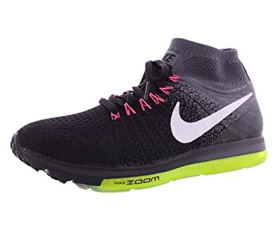 7169c024c809 Nike Womens Zoom All Out Flyknit Black Cool Grey Volt White Woven Size 7.  5  Amazon.in  Shoes   Handbags