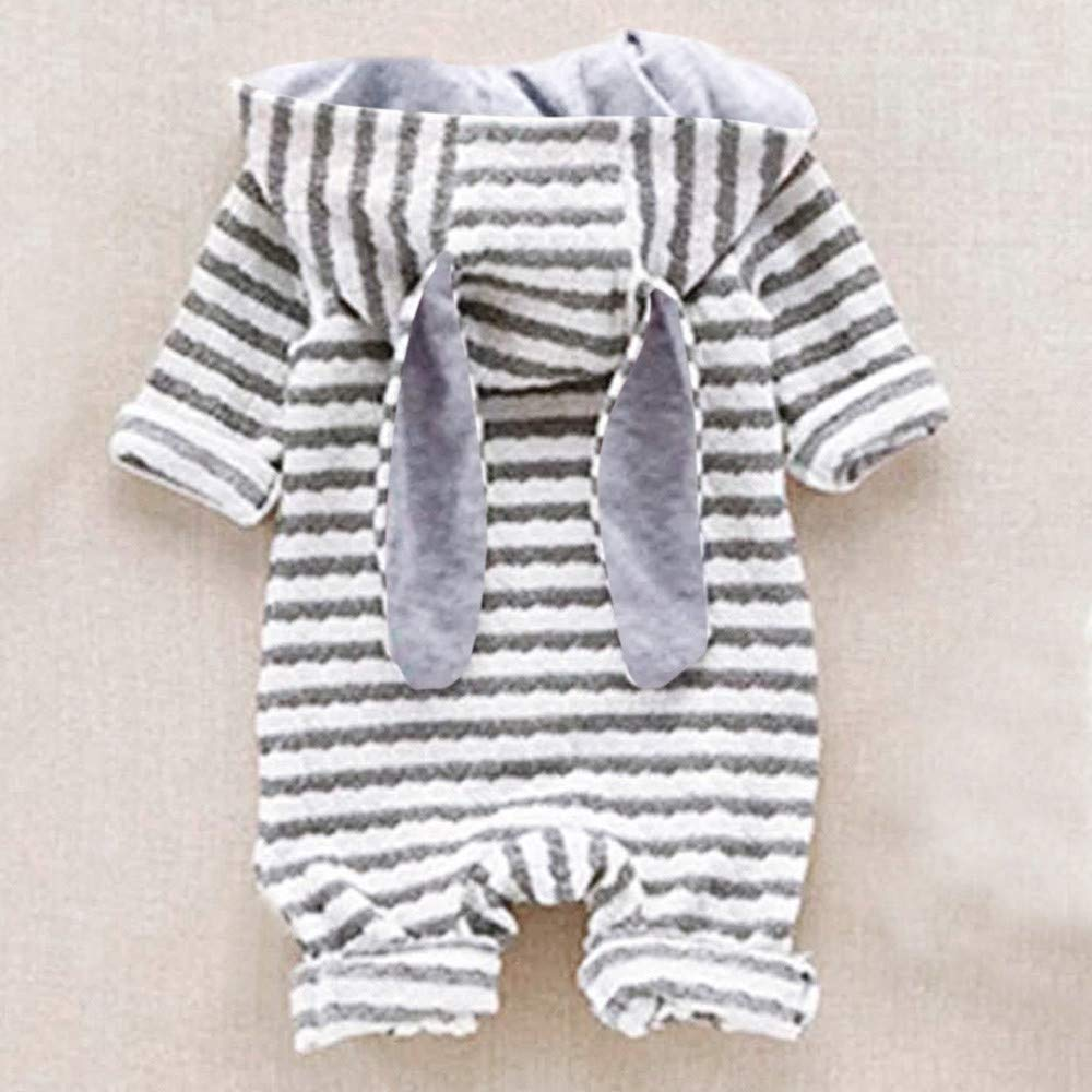 Amazon.com: Wenjuan Newborn Baby Cartoon Fox Hooded Long Sleeves Romper Jumpsuit Striped Robes Toddler Infant Outfit Clothes: Clothing