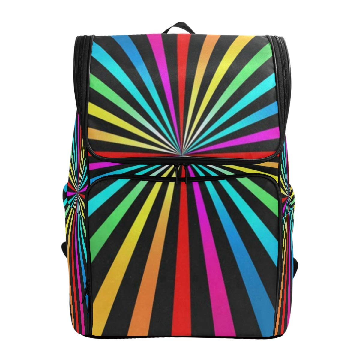 Picture 5 19  x 14  x 7  Laptop Backpack Abstract Falling LeavesGym Backpack for Women Big Hiking Daypack