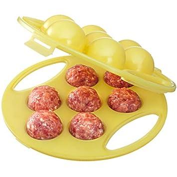 hometom homemade stuffed ball maker stuffed meat ball newbie meatballs kitchen tool yellow - Meatball Kitchen