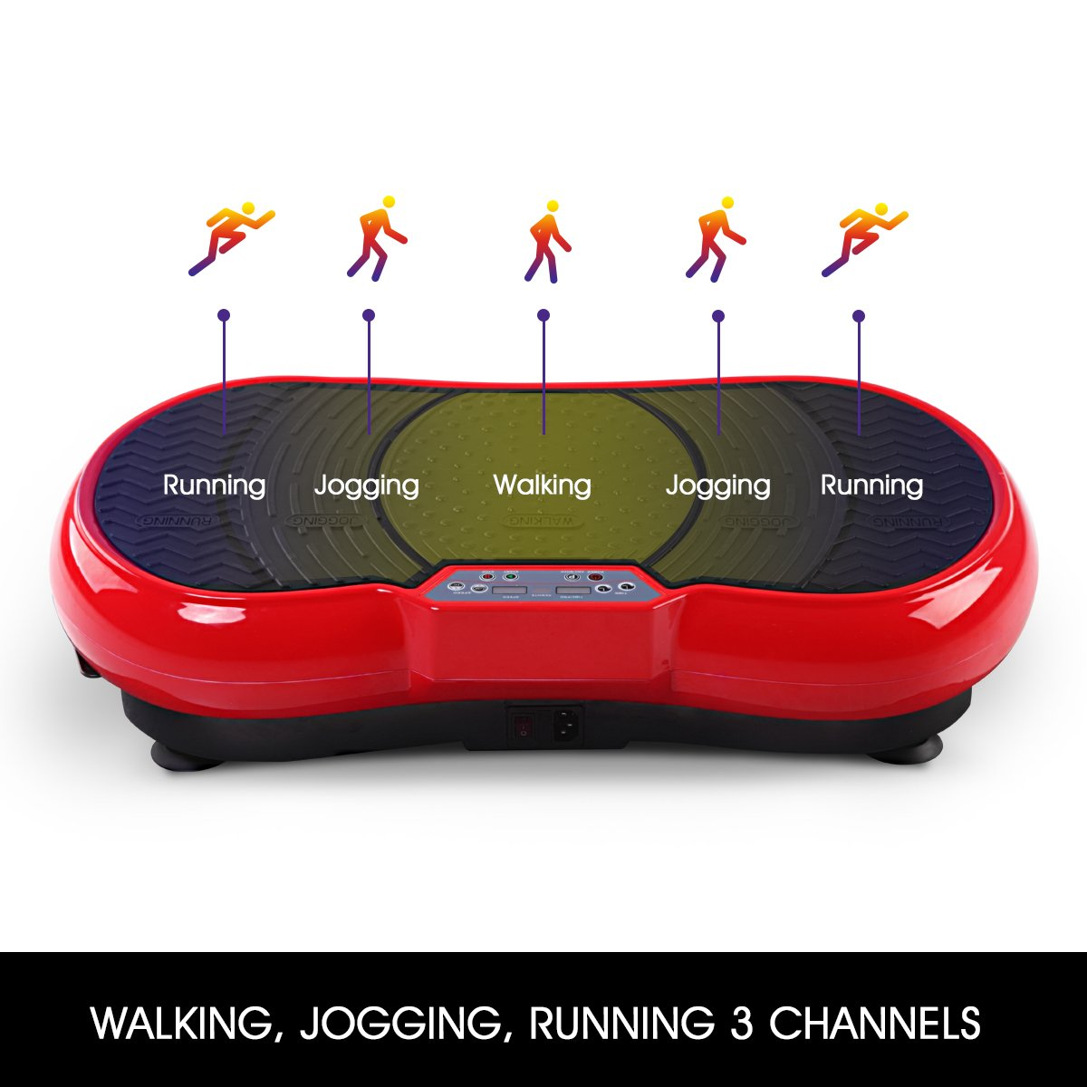 GENKI Fitness Vibration Platform Workout Machine Whole Full Body Shape Exercise Training Power Plate (Red) by GENKI (Image #3)