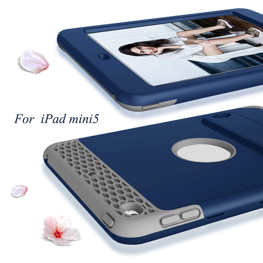 Huhu833 H/ülle Kompatibel mit iPad Mini 5 7,9 Zoll Ultra D/ünn Schutzh/ülle Multicolor Kratzfeste Hard Outdoor Case iPadh/ülle mit Kickstand f/ür iPad Mini 4 3 2 1