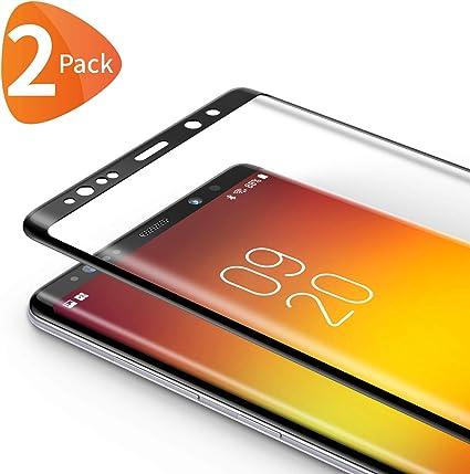 Bewahly Cristal Templado para Samsung Galaxy Note 8 [2 Piezas], 3D ...