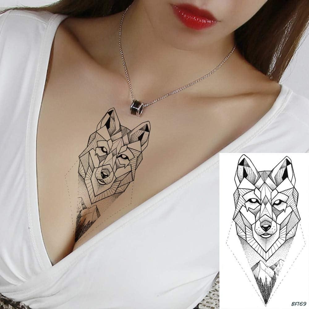 tzxdbh 5 Unids Impermeable Mujeres Cofre Geométrico Fox Tatuajes ...
