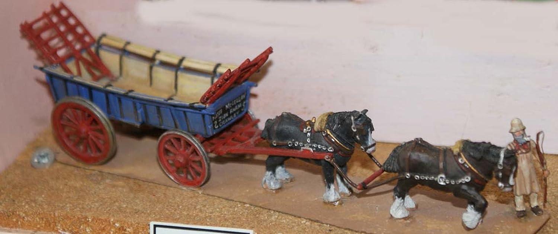 Langley Models de Carro agrícola 2 caballos Shire + Carter ...